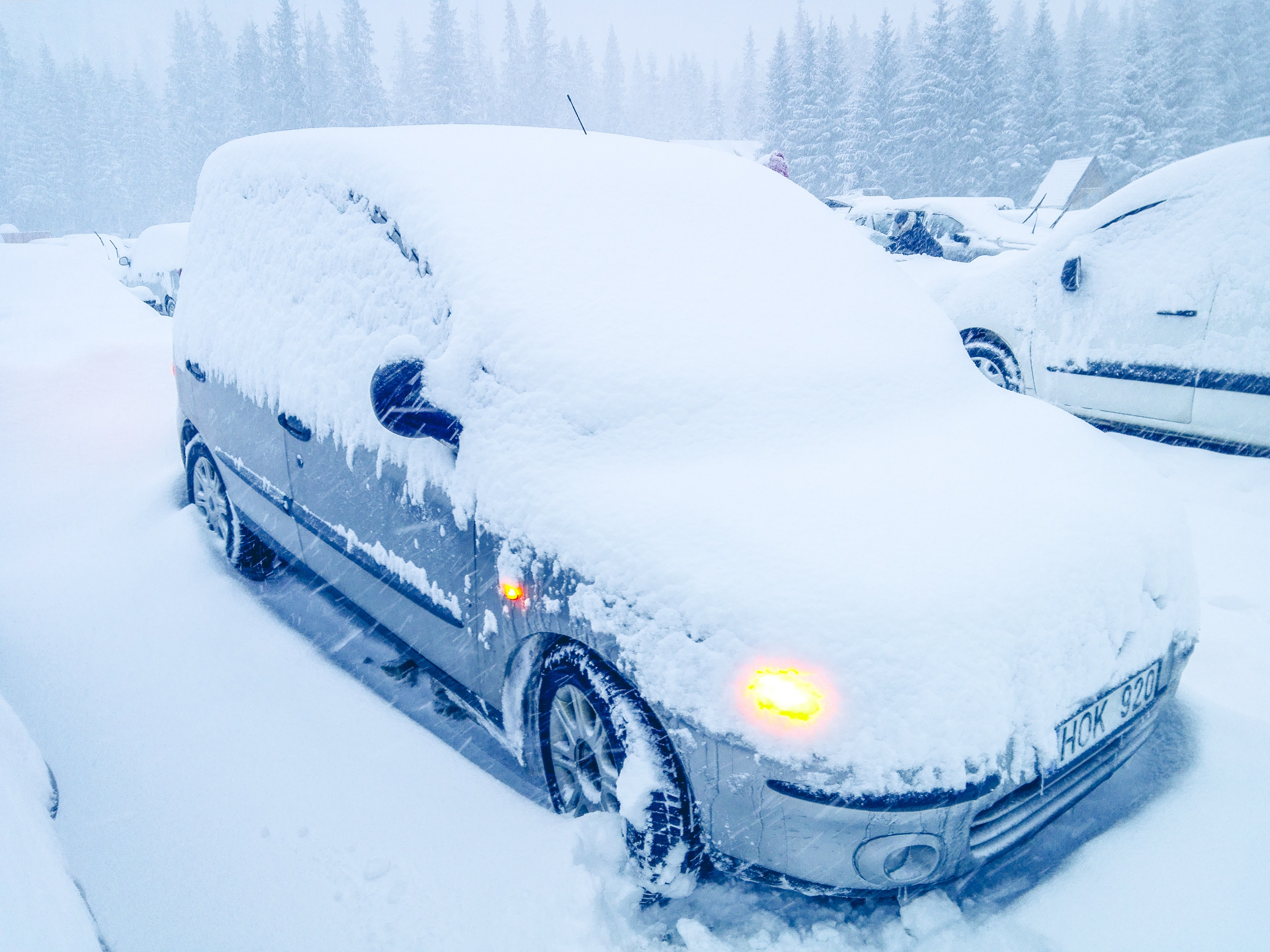 Our car after going for a winter hike to Morskie Oko, Poland. Photo by Alis Monte [CC BY-SA 4.0], via Connecting the Dots