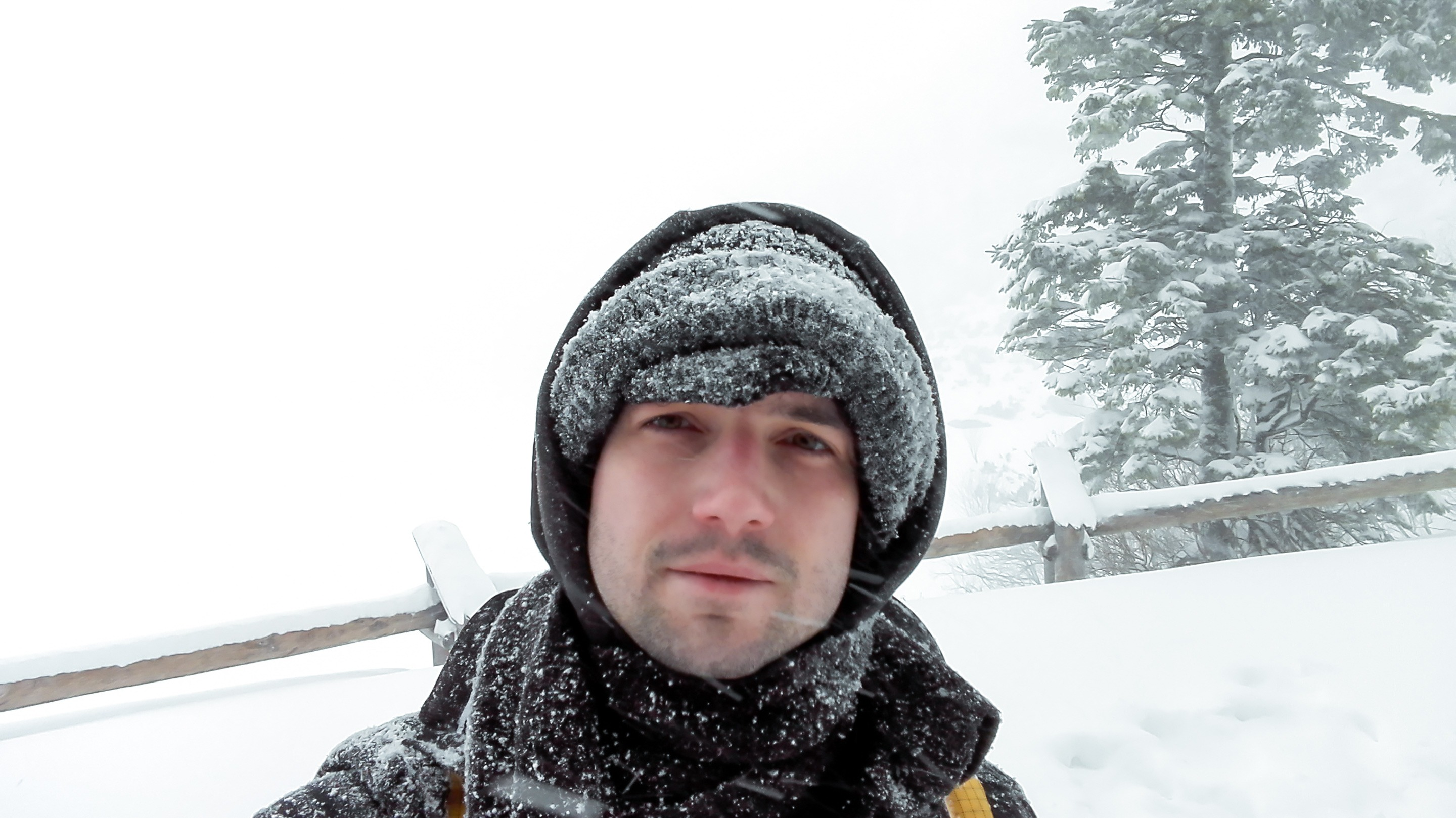 Well, I survided 8km walk in a blizzard. A selfie with Morskie oko in the background. Photo by Alis Monte [CC BY-SA 4.0], via Connecting the Dots
