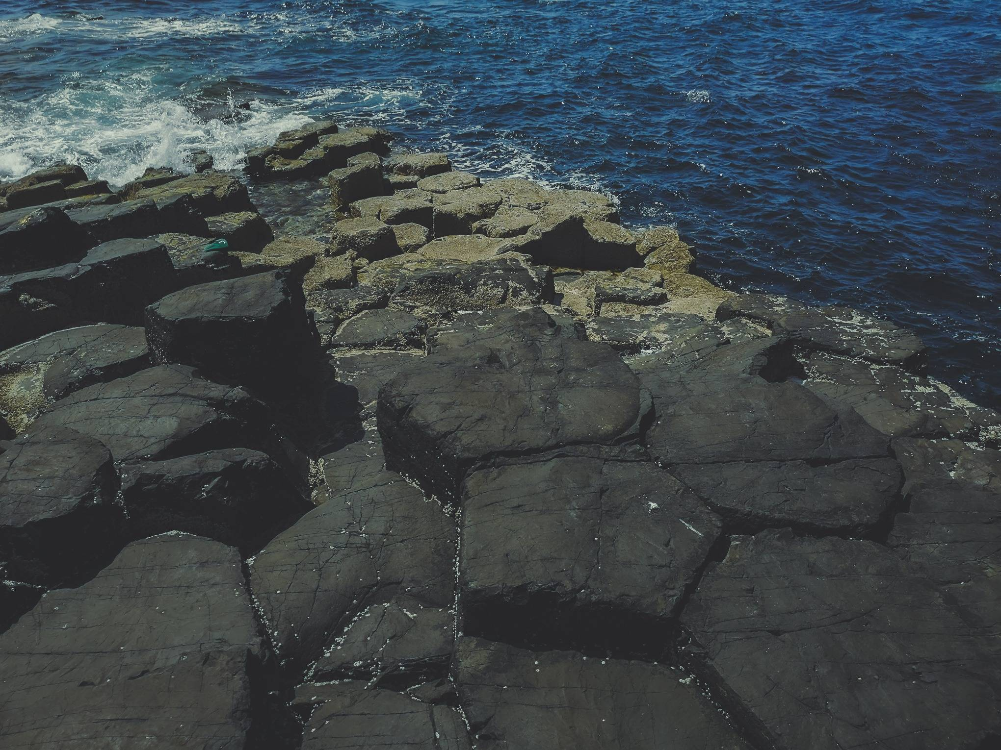 Natural polygon formations on Staffa Island