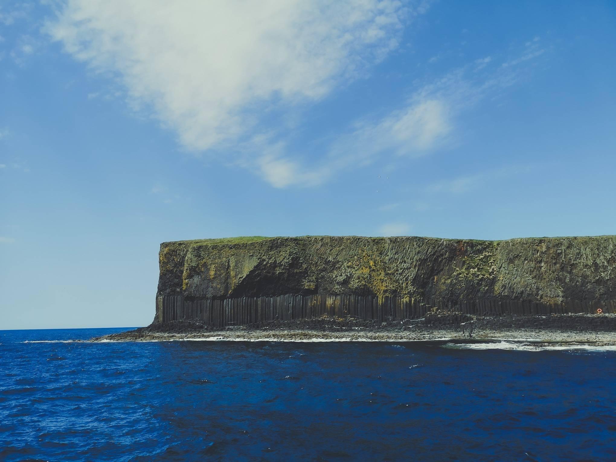 Geological layers of Staffa Island, Hebrides, Scotland