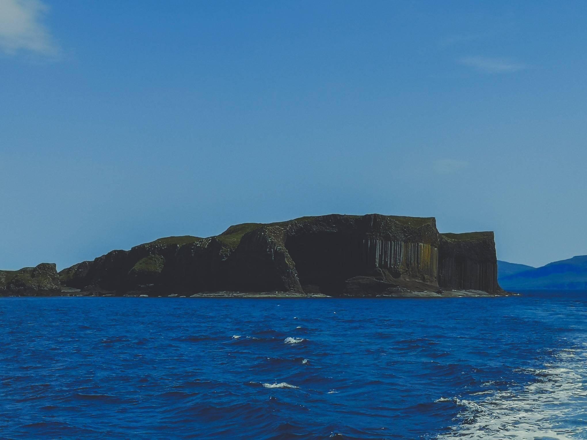 Staffa Island colonnade rock formations