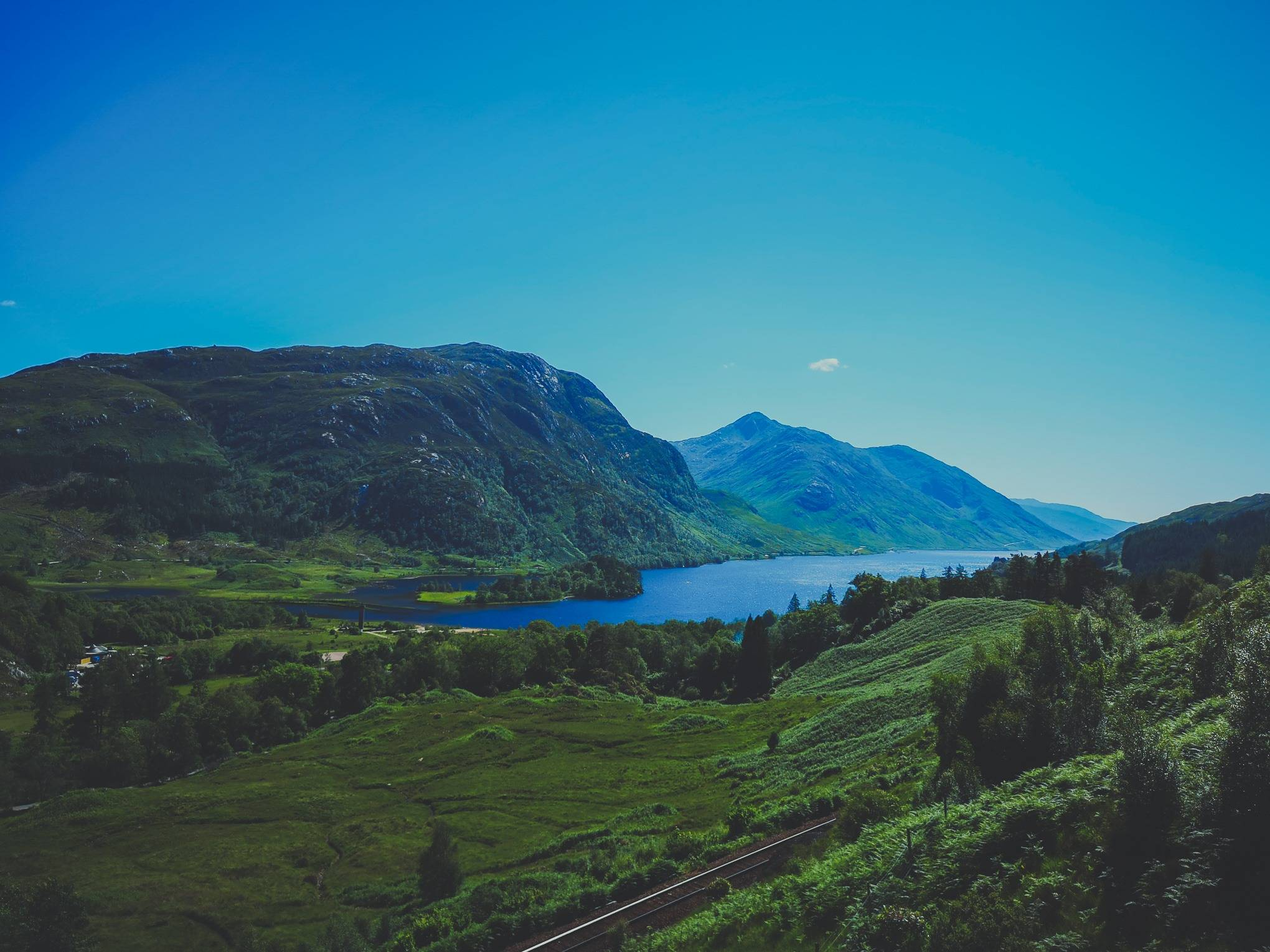 Loch Shiel view from Glenfinnan Viaduct Trail, Scotland. Photo by Alis Monte [CC BY-SA 4.0], via Connecting the Dots