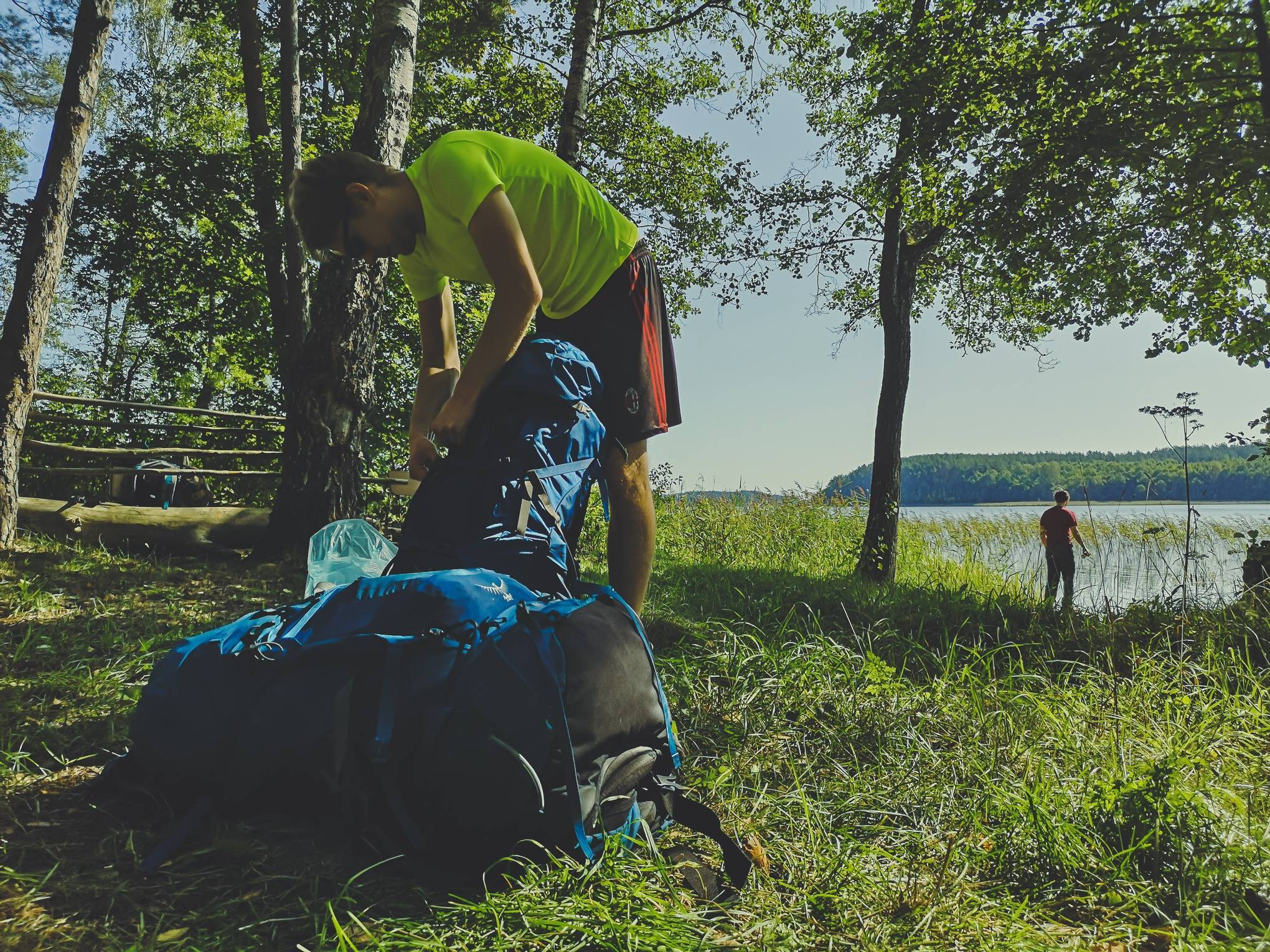 Packing trekking backpack in Labanoras Regional Park, Lithuania. Photo Alis Monte [CC BY-SA 4.0], via Connecting the Dots