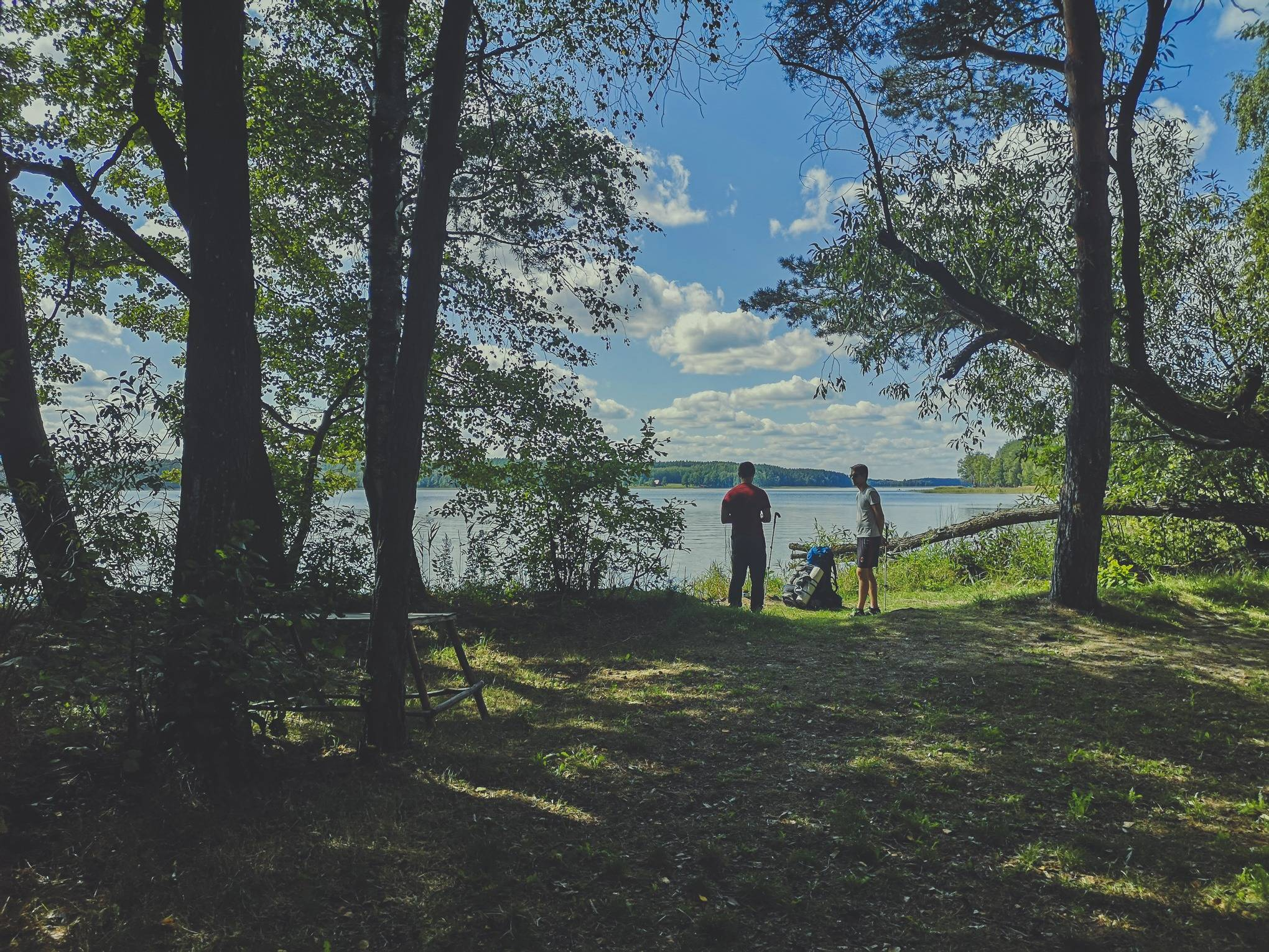 Taking on a trail near White Lakajai lake in Labanoras regional park, Lithuania. Photo Alis Monte [CC BY-SA 4.0], via Connecting the Dots