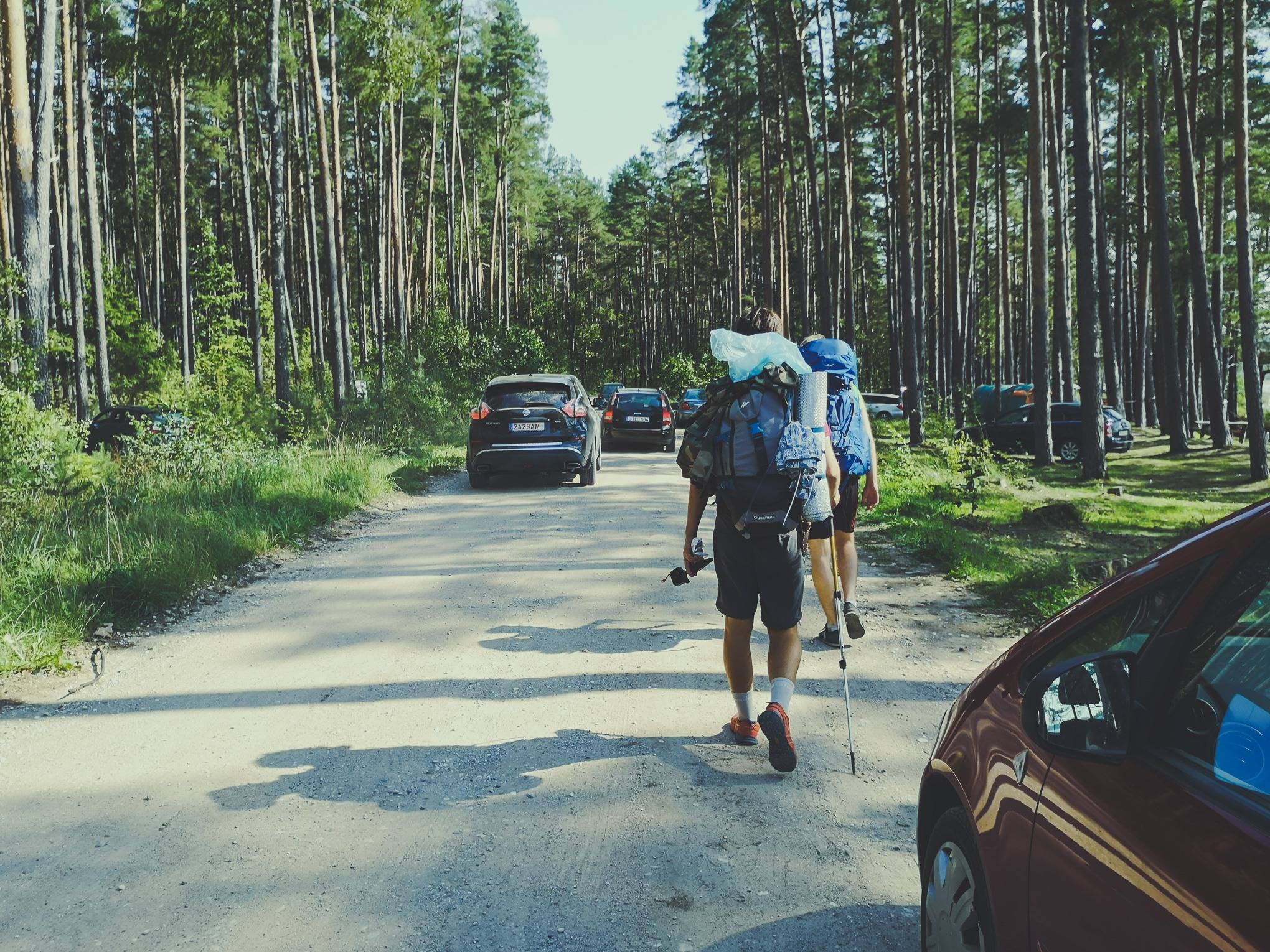 Trekking between cars in Labanoras Regional Park, Lithuania. Photo Alis Monte [CC BY-SA 4.0], via Connecting the Dots