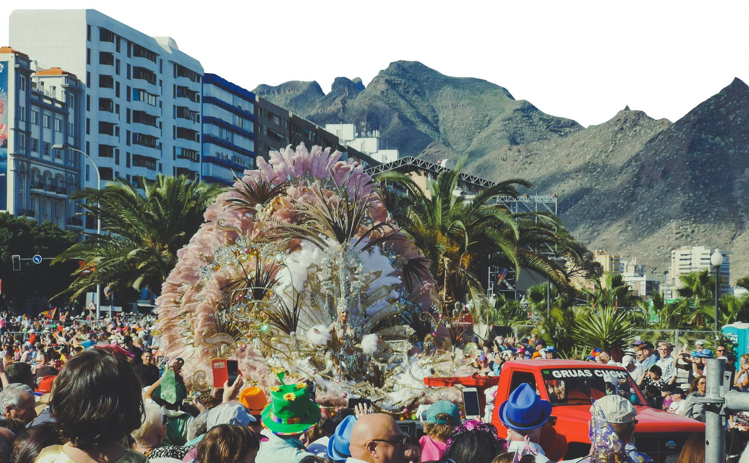 Carnival of Santa Cruz de Tenerife is the second biggest in the whole world. Photo by Alis Monte [CC BY-SA 4.0], via Connecting the Dots