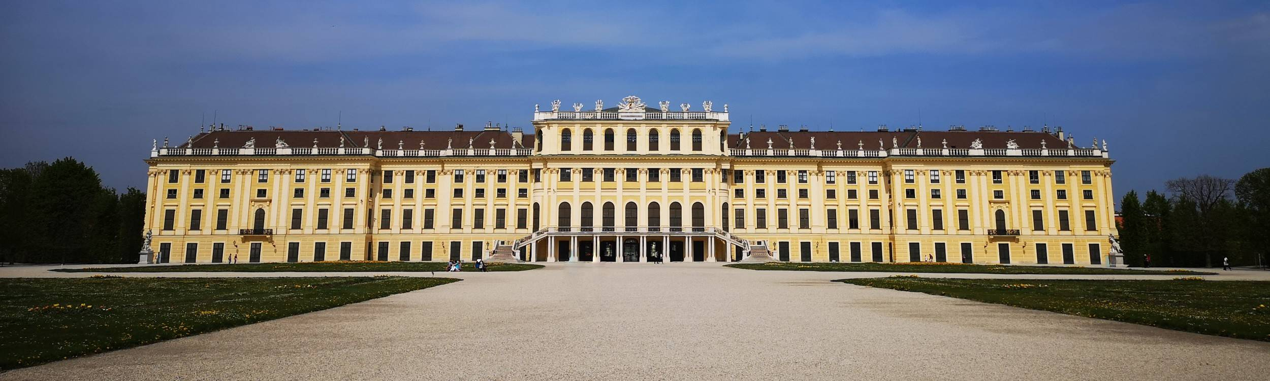 The inner side of Schönbrunn Palace, Vienna