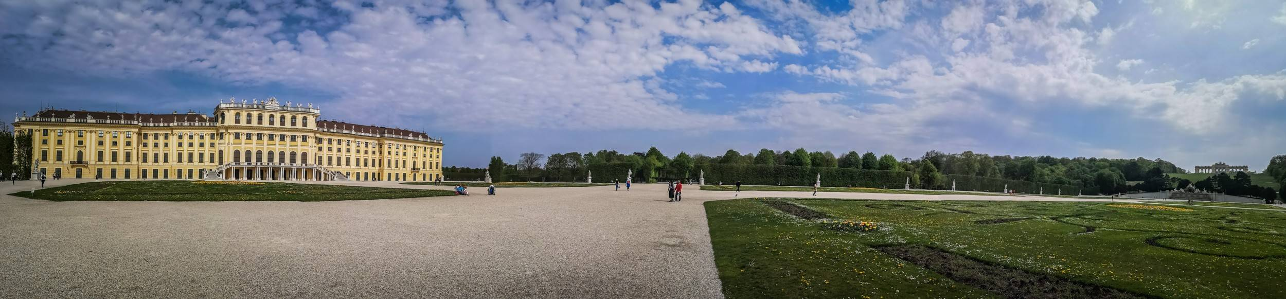 The Gloriette, the Great Parterre & Schönbrunn Palace, Vienna