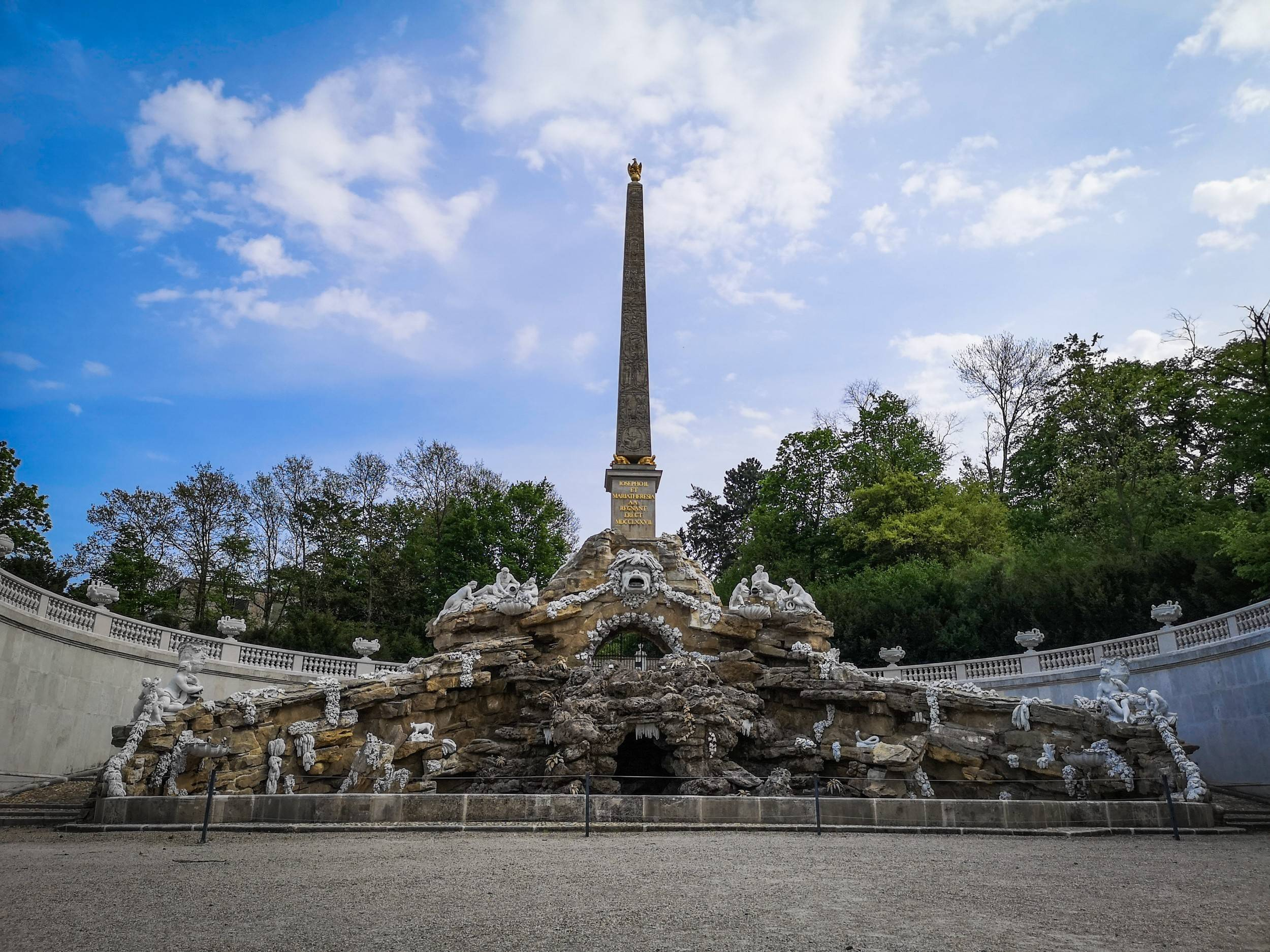 The Obelisk Fountain of Schönbrunn Palace Gardens, Vienna